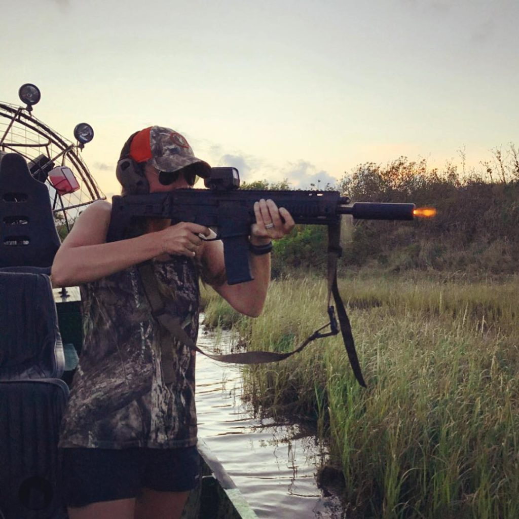 Hogs? With a suppressed AAC MPW ? From an airboat?hellip